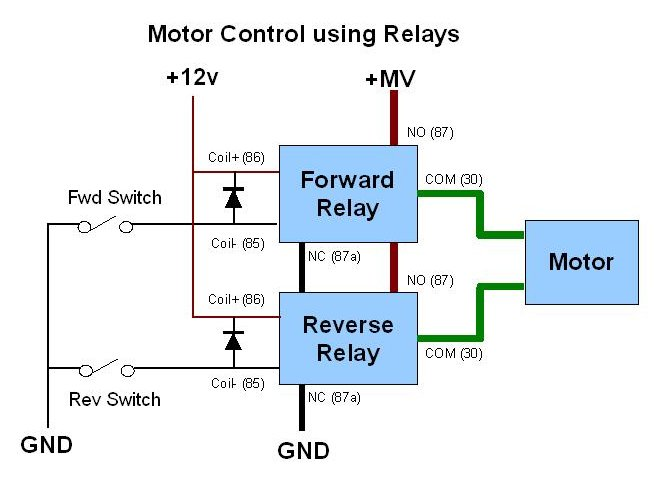 speed controls 4 jan 2003 rh rctankcombat com motor control using relay circuit dc motor relay control circuit